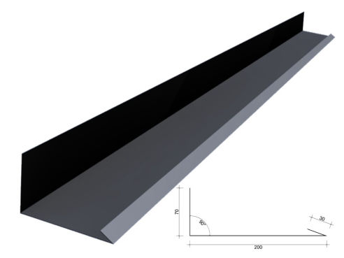 AV LIGHT STEEL COBERTURA ROOF FLASHING AND RIDGE CAPS